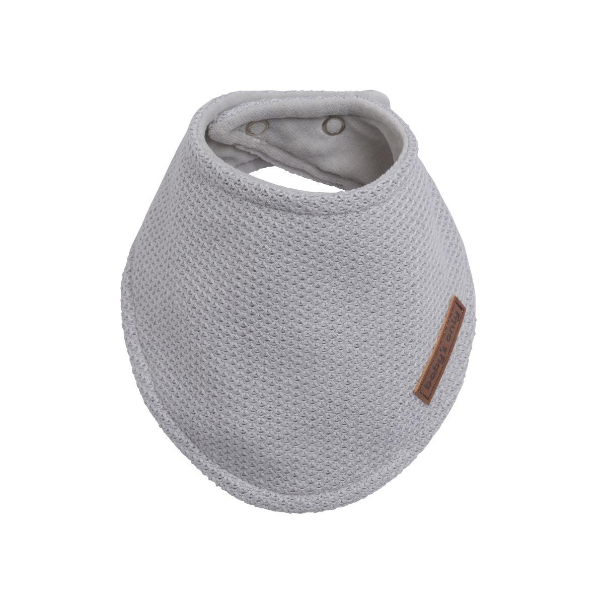 baby bandana classic silbergrau