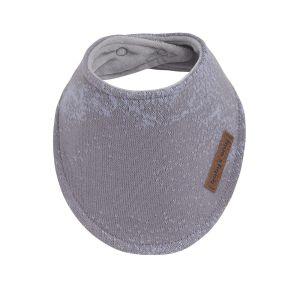Baby bandana Marble cool grey/lila