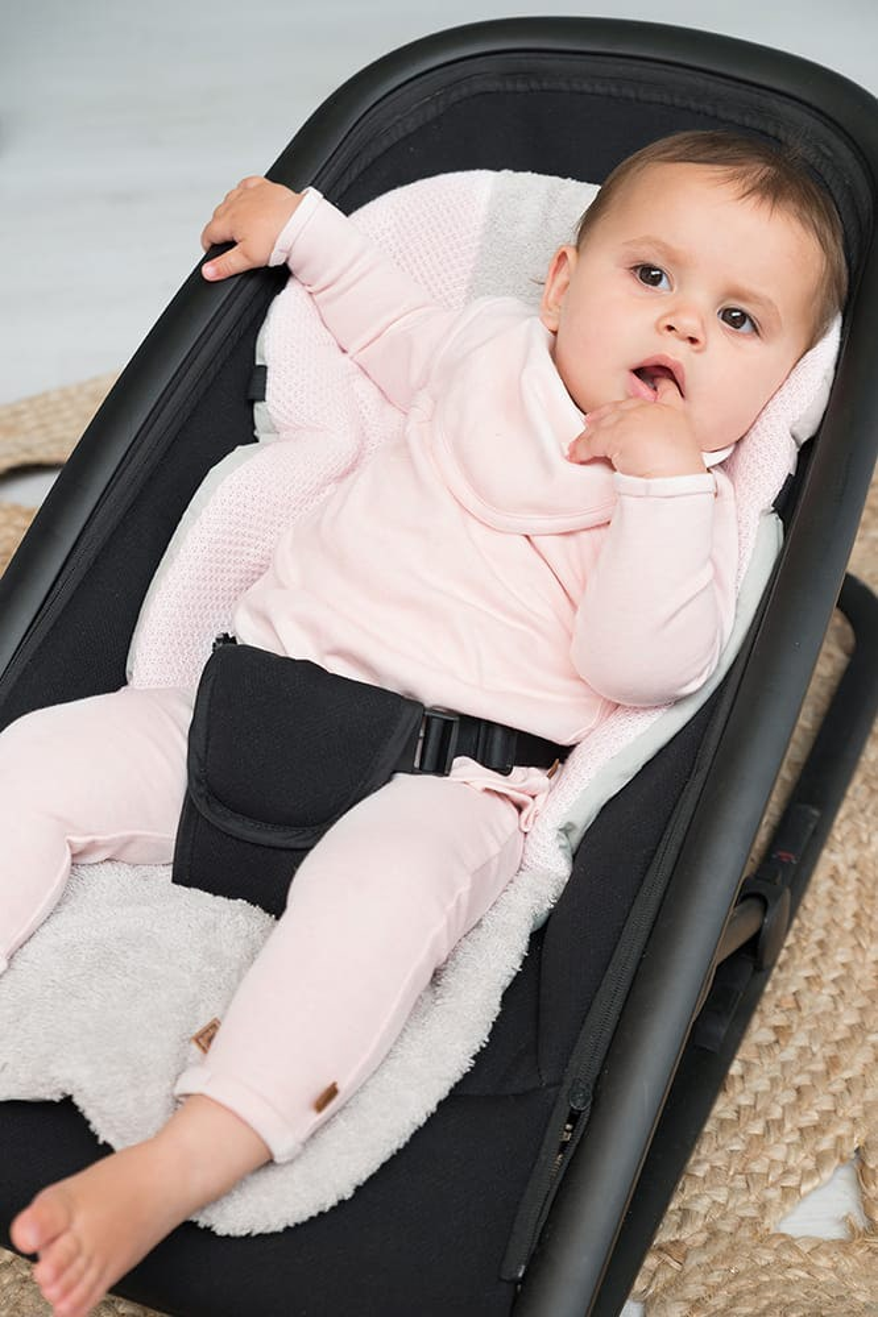 baby bandana melange stonegreen