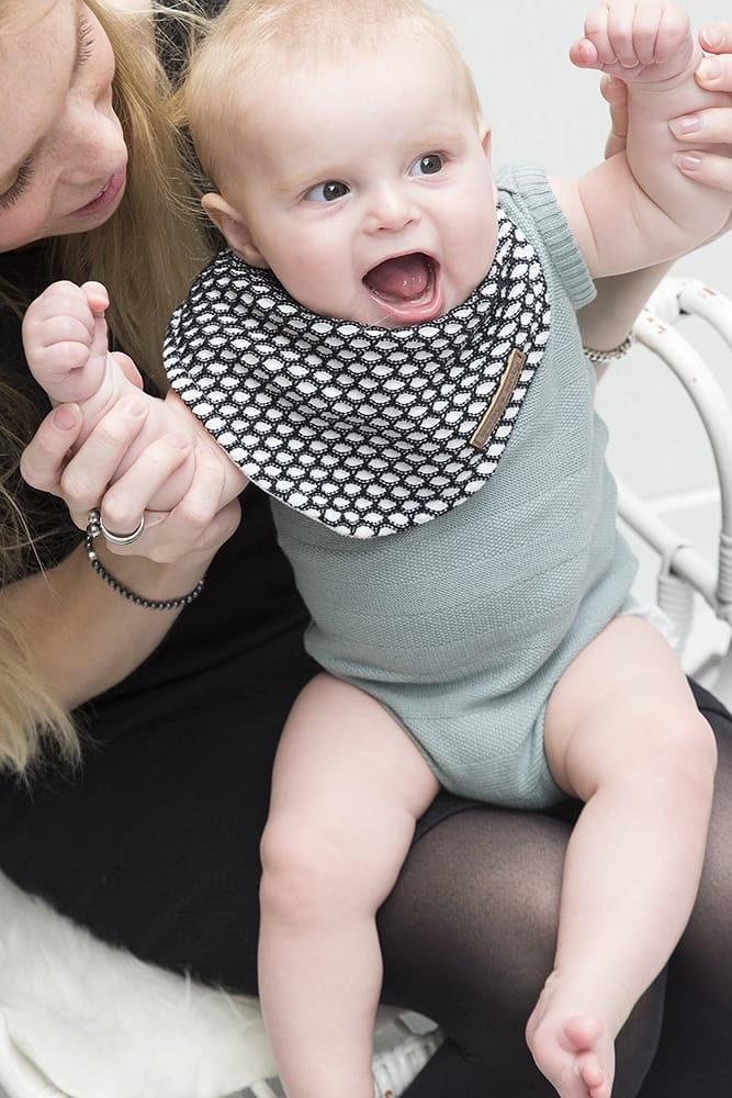 baby bandana sun mintstonegreen