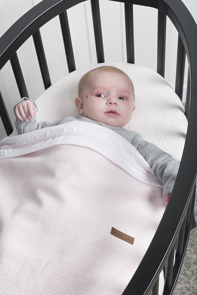 baby bettlaken gestricktes band silbergrauwei
