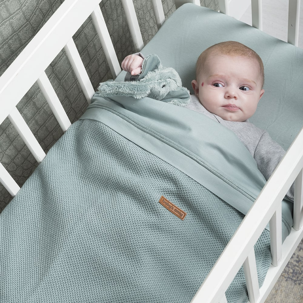 baby bettlaken puderblau