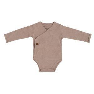Baby Body langen Ärmeln Melange clay - 50