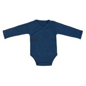 Baby Body langen Ärmeln Melange jeans - 50
