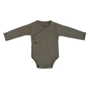 Baby Body langen Ärmeln Melange khaki - 50