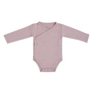 Baby Body langen Ärmeln Pure alt rosa - 50