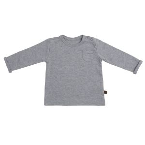 Baby Pullover Melange grau - 50