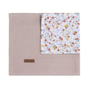 Babydecke Bloom alt rosa