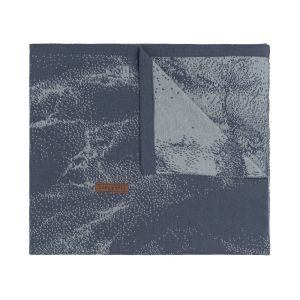Babydecke Marble granit/grau