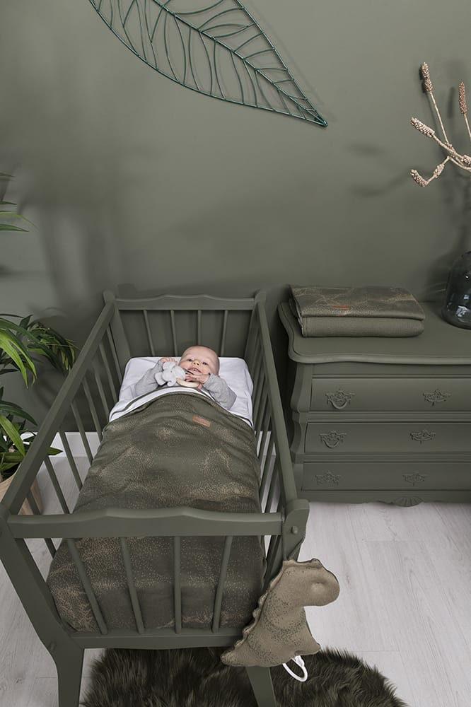 babydecke marble grausilbergrau