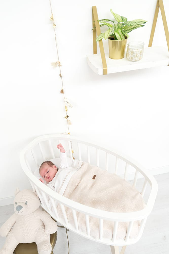 babydecke soft sparkle silberrosa melee