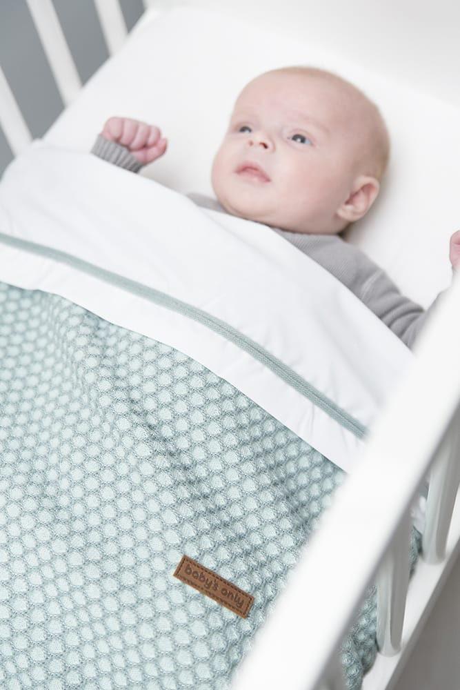babydecke teddyfutter sun mintstonegreen