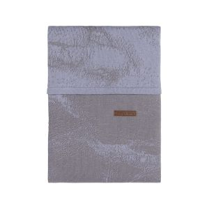 Bettbezug Marble cool grey/lila - 100x135