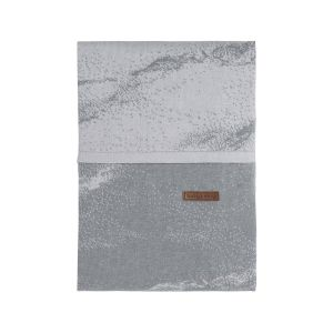 Bettbezug Marble grau/silbergrau - 100x135