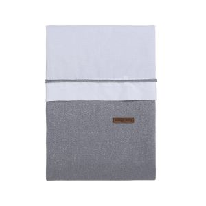 Bettbezug Sparkle silbergrau melee - 100x135