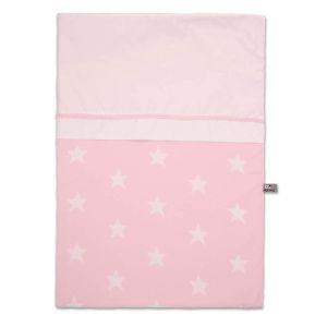 Bettbezug Star baby rosa/weiß- 100x135