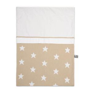 Bettbezug Star beige/weiß - 100x135