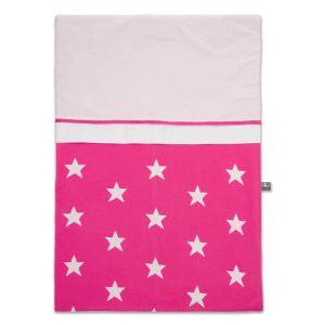 Bettbezug Star fuchsia/weiß - 100x135