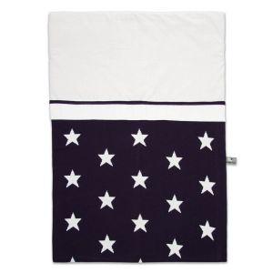 Bettbezug Star marine/weiß - 100x135