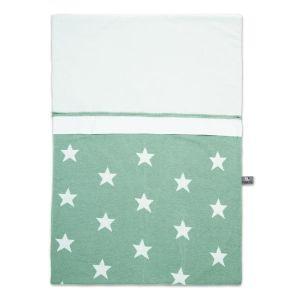 Bettbezug Star mint/weiß - 100x135