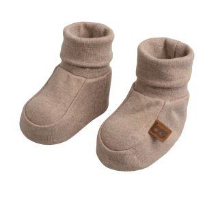 Booties Melange clay - 0-3 Monate