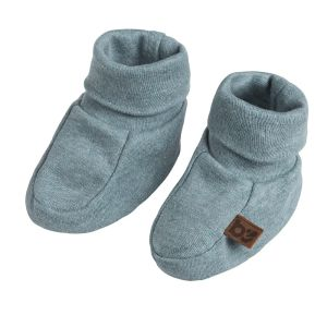 Booties Melange stonegreen - 3-6 Monate