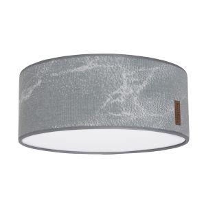 Deckenleuchte Marble grau/silbergrau - Ø35 cm