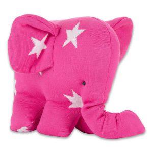 Elefant Star fuchsia/weiß