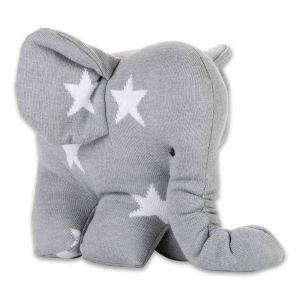 Elefant Star grau/weiß