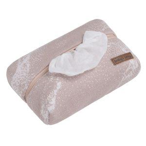 Feuchttücherbezug Marble alt rosa/klassisch rosa
