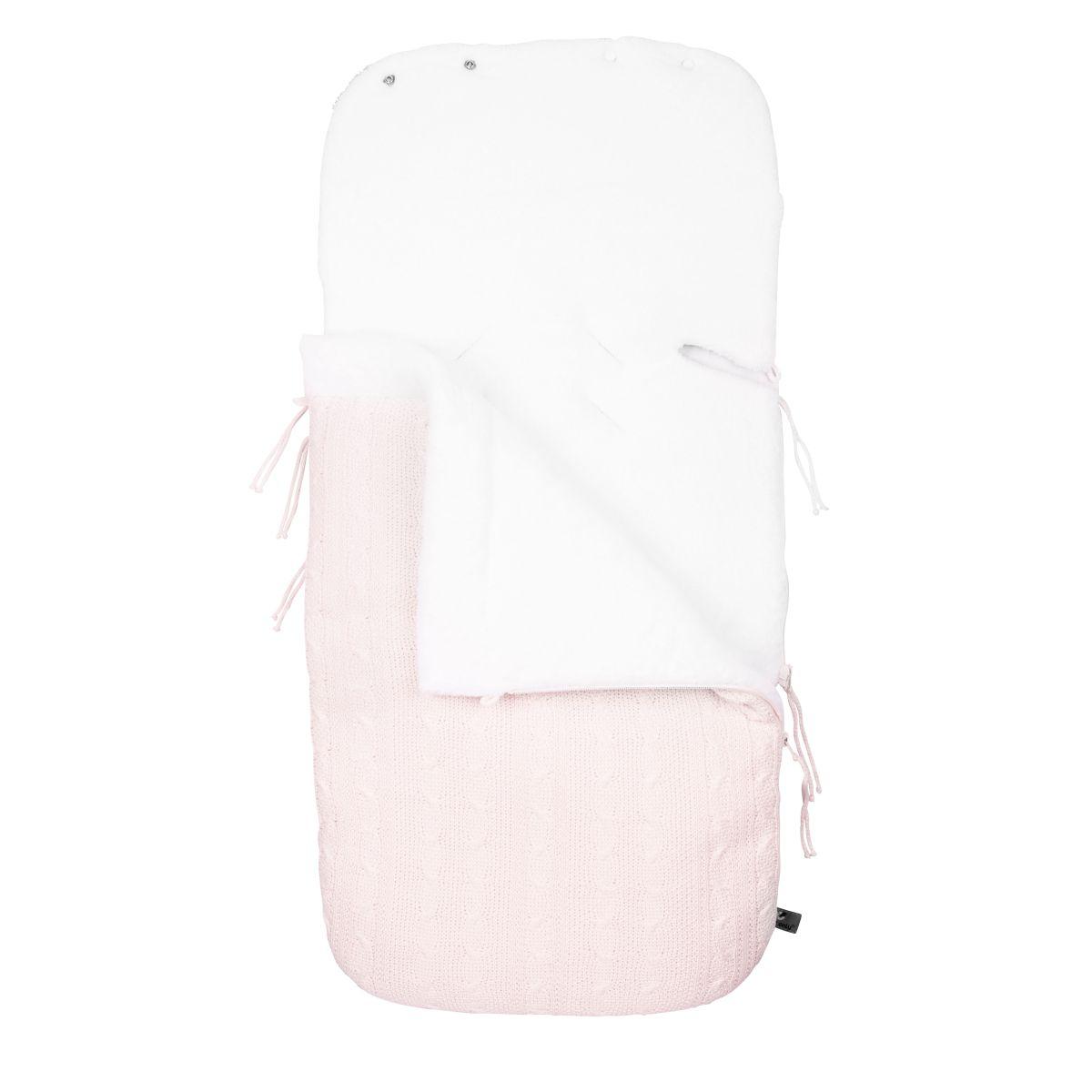 fusack autositz 0 cable klassisch rosa