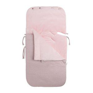 Fußsack Maxi-Cosi 0+ Sparkle silber-rosa melee