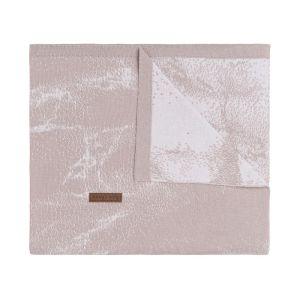 Gitterbettdecke Marble alt rosa/klassisch rosa