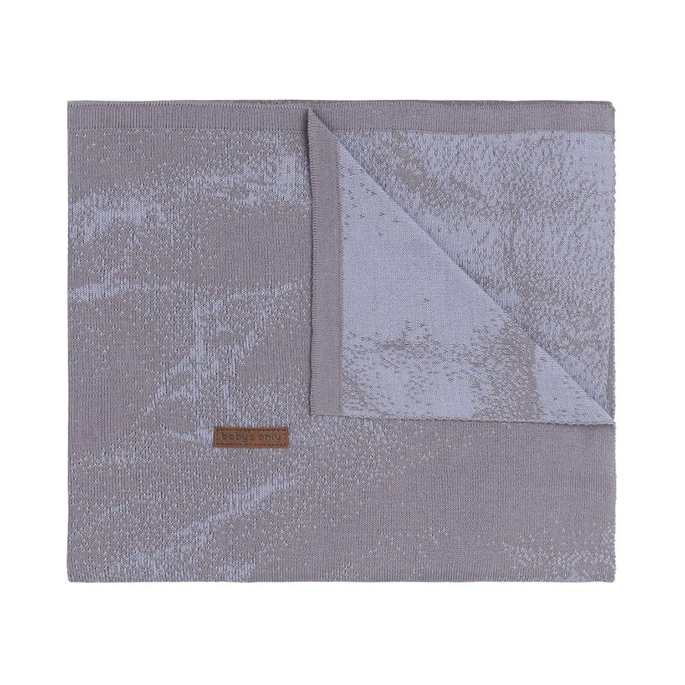 gitterbettdecke marble cool greylila