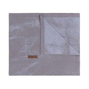 Gitterbettdecke Marble cool grey/lila
