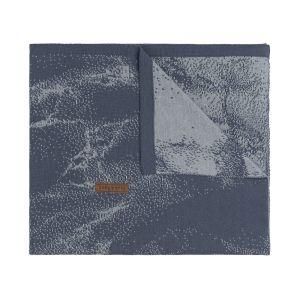 Gitterbettdecke Marble granit/grau