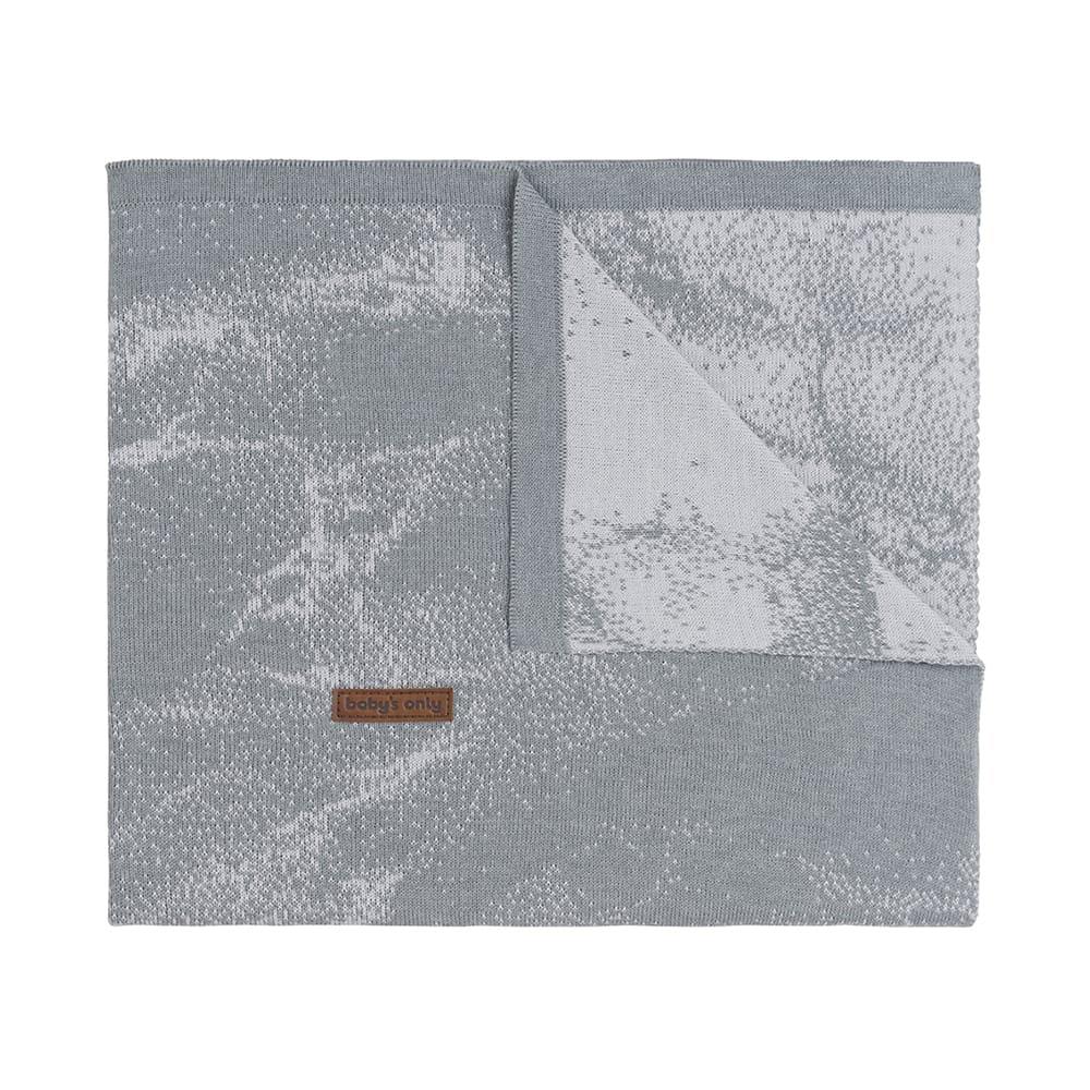 gitterbettdecke marble grausilbergrau