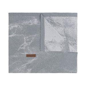 Gitterbettdecke Marble grau/silbergrau