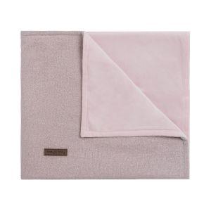 Gitterbettdecke soft Sparkle silber-rosa melee