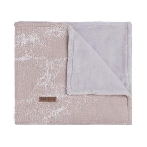 Gitterbettdecke teddyfutter Marble alt rosa/klassisch rosa