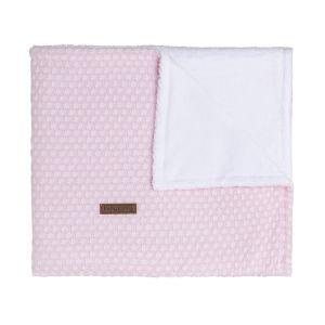 Gitterbettdecke teddyfutter Sun klassisch rosa/baby rosa