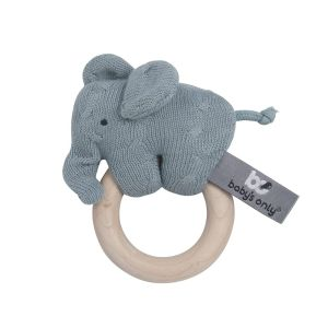 Holz Rassel Elefant stonegreen