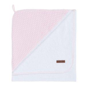 Kapuzenbadetuch Sun klassisch rosa/baby rosa - 75x85