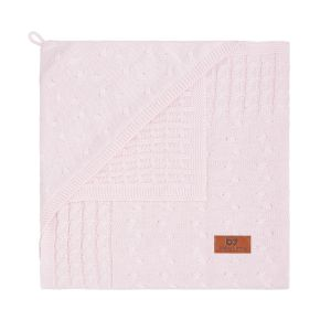 Kapuzendecke Cable klassisch rosa