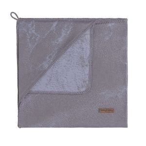Kapuzendecke Marble cool grey/lila