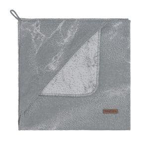 Kapuzendecke Marble grau/silbergrau