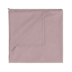 Kapuzendecke Pure alt rosa - 75x75