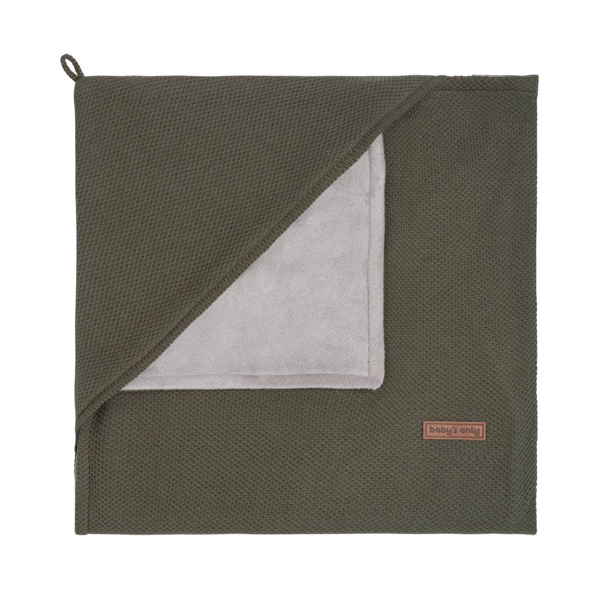 kapuzendecke soft classic khaki