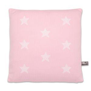 Kissen Star baby rosa/weiß - 40x40
