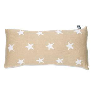 Kissen Star beige/weiß - 60x30